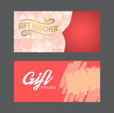 Gift voucher template. Royalty Free Stock Images