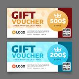 Gift voucher template, vector graphic design Stock Image
