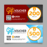 Gift voucher template, vector graphic design Royalty Free Stock Photo