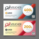 Gift voucher template, vector graphic design Royalty Free Stock Images