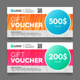 Gift voucher template, vector graphic design Stock Photos