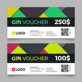 Gift voucher template, vector graphic design Stock Images