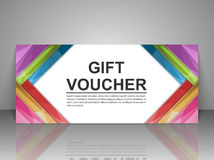 Gift voucher template. Stock Images