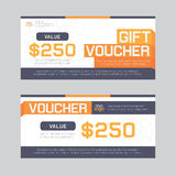 Gift Voucher Template Vector illustration Royalty Free Stock Images