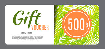 Gift Voucher Template Vector Illustration for Your Business Royalty Free Stock Image