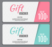Gift Voucher Template Vector Illustration for Your Business Stock Image