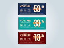 Gift voucher template, vector layout Royalty Free Stock Photos
