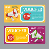 Gift Voucher Template. Vector Royalty Free Stock Photography