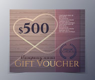 Gift voucher template with vintage hand drawn pattern Royalty Free Stock Photography