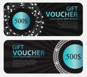 Gift Voucher Template For Your Business. Vector Illustration Royalty Free Stock Images