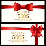 Gift Voucher Template For Your Business. Vector Illustration Stock Photos