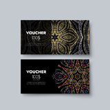 Gift voucher templates. Royalty Free Stock Photography