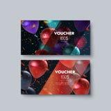 Gift voucher templates. Stock Photo