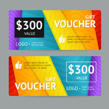Gift Voucher. Vector Royalty Free Stock Image