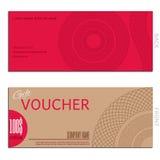 Gift voucher vector coupon. Certificate Stock Photo
