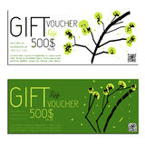 Gift voucher vector coupon Guohua Royalty Free Stock Image