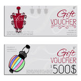 Gift voucher vector coupon lamp Royalty Free Stock Photography
