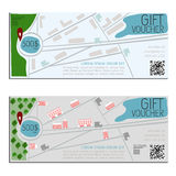 Gift voucher vector coupon map Stock Photos