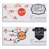 Gift voucher vector coupon map Royalty Free Stock Photo