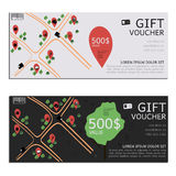 Gift voucher vector coupon map Stock Photography