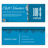 Gift voucher vector coupon template Stock Photos