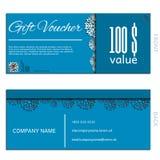 Gift voucher vector coupon template Stock Photos