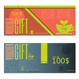 Gift voucher vector coupon Royalty Free Stock Photos
