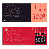 Gift voucher vector coupon Stock Photo