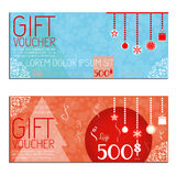 Gift voucher vector coupon. Template present Royalty Free Stock Photography