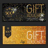 Gift voucher vector coupon Royalty Free Stock Photography