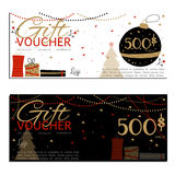 Gift voucher vector coupon Stock Photography