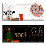 Gift voucher vector coupon Royalty Free Stock Images