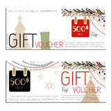 Gift voucher vector coupon Stock Image