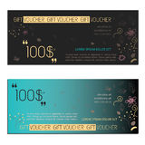 Gift voucher vector coupon Royalty Free Stock Image