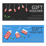 Gift voucher vector coupon Stock Images