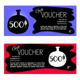 Gift voucher vector coupon Royalty Free Stock Photo