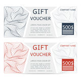Gift voucher vector doodle illustration coupon Stock Images