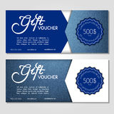 Gift voucher. Vector, illustration. Card template. Royalty Free Stock Photo