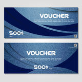 Gift voucher. Vector, illustration. Card template. Royalty Free Stock Photography