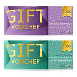 Gift voucher vector illustration coupon template for company cor Royalty Free Stock Photo