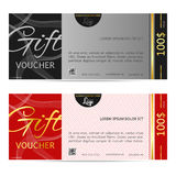 Gift voucher vector illustration coupon template for company  Stock Photos