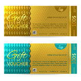 Gift voucher vector illustration coupon template Stock Images