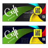 Gift voucher vector illustration coupon Royalty Free Stock Photo