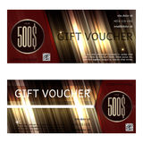 Gift voucher vector illustration coupon Royalty Free Stock Images
