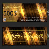 Gift voucher vector illustration coupon Royalty Free Stock Photos