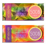 Gift voucher vector illustration coupon Stock Image