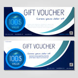 Gift voucher vector illustration coupon template royalty free stock photos