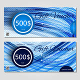 Gift voucher vector illustration coupon template for company. Corporate style present. Easy to use and edit. Vector, illustration. Layout template Royalty Free Stock Photos