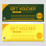 Gift voucher vector illustration coupon template for company. Corporate style present. Easy to use and edit. Vector, illustration. Layout template Stock Photography