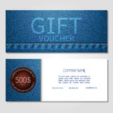 Gift voucher vector illustration coupon template for company Stock Image